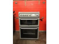 Hotpoint gas cooker DSG60S 60cm Silver FSD double oven 3 months warranty free local delivery!