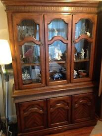 Solid mahogony display cabinet