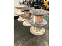 Cable drums (spools, garden furniture, shabby chic, vintage, retro, coffee table)
