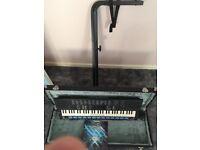 Yamaha key board case stand and book