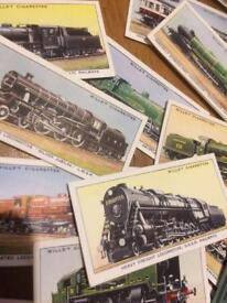 Train engine cards , 31 in total good condition.
