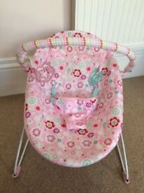 Pink bouncer chair