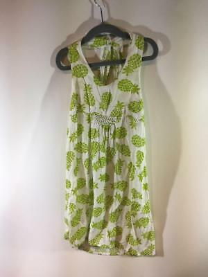 Girls Maxi Dress Size 5 (Coco by HavenGirl Girls White Green Pineapple Maxi Dress Size)