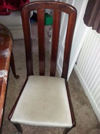 3 MAHOGANY DINING CHAIRS FOR SALE.
