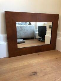 Leather Framed Laura Ashley Mirror