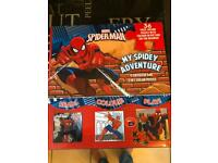 Spider-Man puzzle, colouring and book.