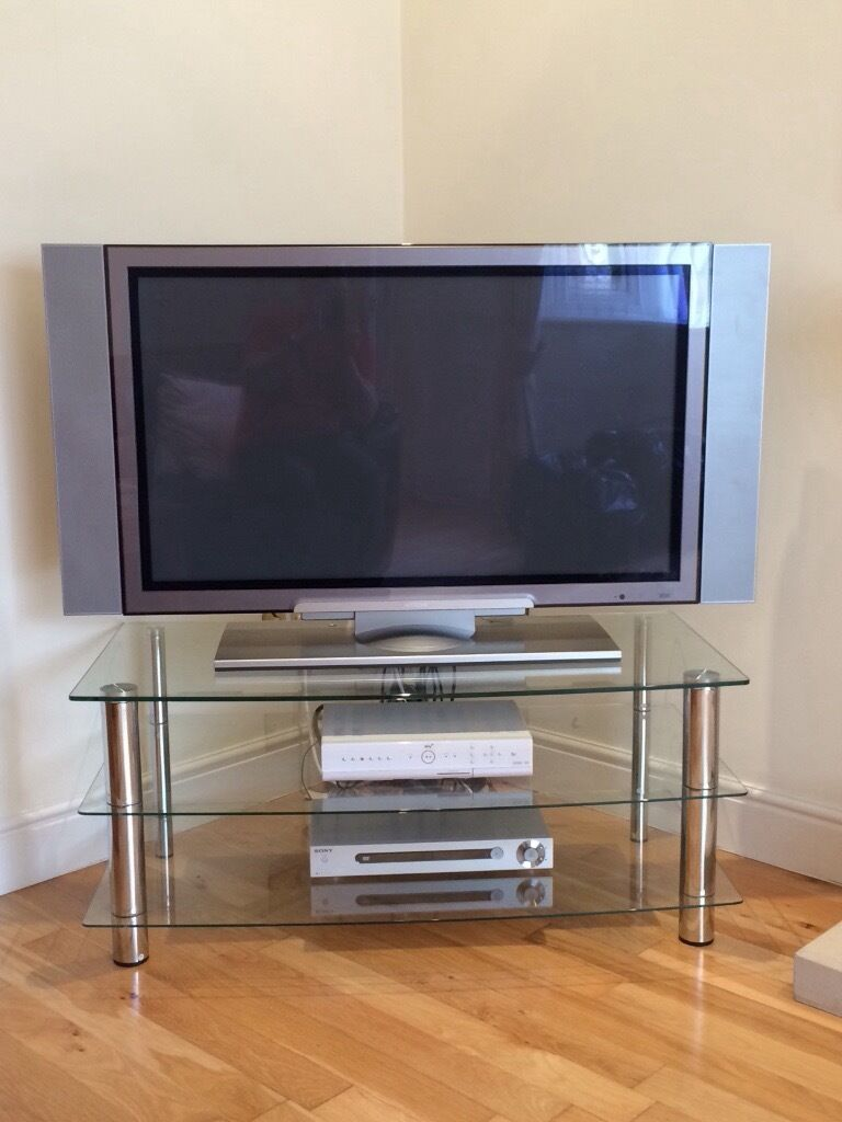 42 Inch Hitachi Plasma Tv Sky Box Sony Dvd And Tv Stand In  # Model Des Meuble D'Ecran Plasma