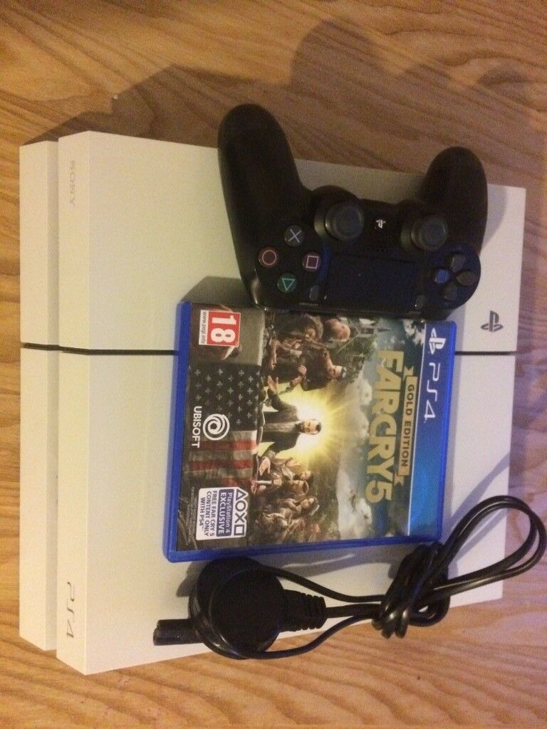playstation 4- excellent condition-glacier white-500GB-far cry 5  -fortnite-please text me £200 ONO | in Southampton, Hampshire | Gumtree