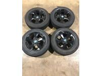"""Set of 16"""" genuine Bmw alloy wheels and tyres"""