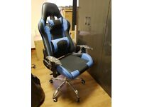 Real Leather Racing gaming office chair Red or blue
