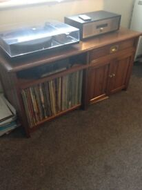 Lovely individually made wood hi fi record cabinet