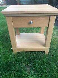 Ikea bed frame and matching bedside tables
