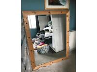 Large pine mirror 106cm x135cm