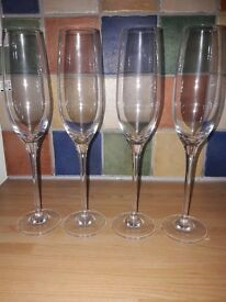 Champagne/prosecco glasses/flutes x 4, from John Lewis
