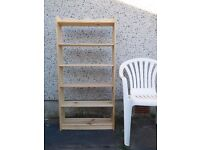 PINE BOOKCASE - Solid Wooden Construction - Excellent Condition