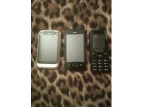 Htc mobile phone all 3 for £30