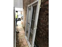 White UPVC Double Glazing French Doors excellent condition