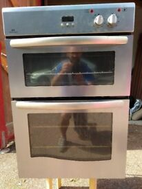 Double electric oven and grill - stainless steel fan assisted