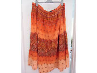 Ladies cotton beaded skirt size 30