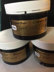 CAKE DECORATING 400GM TUBS CONCENTRATED SUGARFLAIR