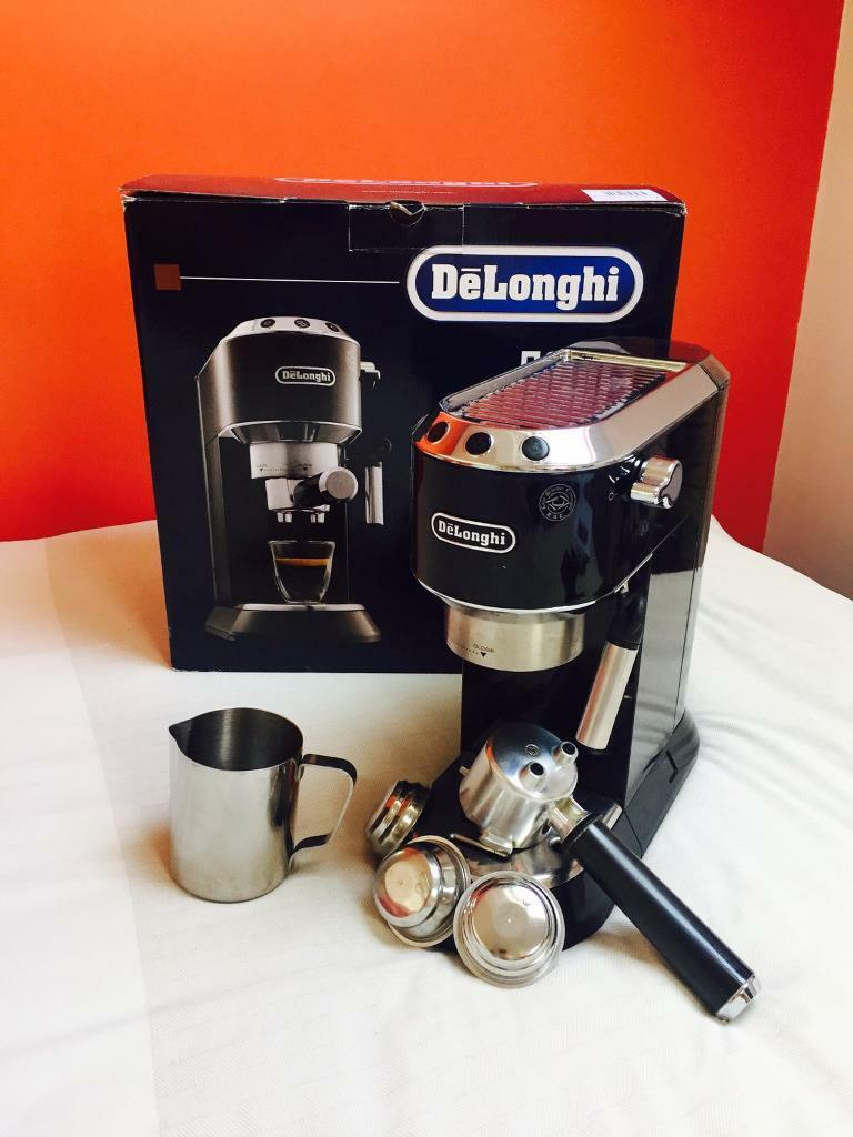 DeLonghi EC680 Black Coffee Machinein West Wickham, LondonGumtree - DeLonghi EC680 sleek and brilliant espresso machine. Makes great coffee! In very good condition following regular descaling and cleaning. Only being sold as moving abroad and cannot take it with us. All items parts included. Stainless steel milk jug...