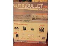 NutriBullet Pro 900 15pc set, used once!!