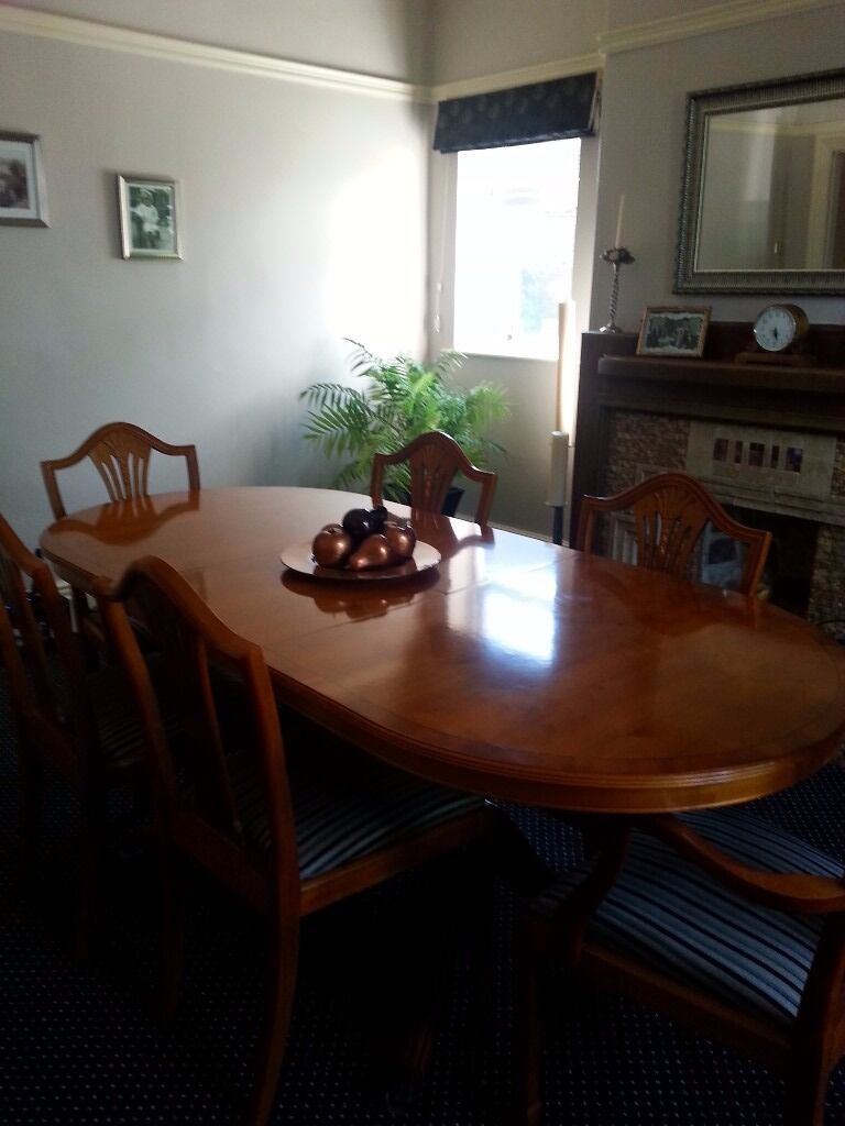 Yew Dining Room Furniture Dining Table Sideboard 6 Chairs Buy Or Sell Find It Used