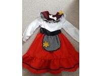 Girls welsh dress age 3-5 years old