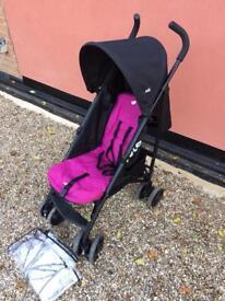Joie purple and black pushchair stroller