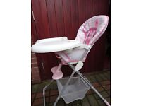 childs high chair £5