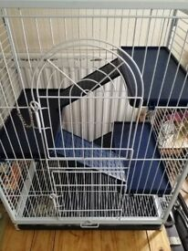 Small animal cage suitable for chinchilla or other small animals