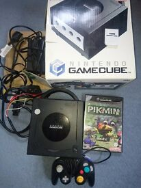Nintendo Gamecube boxed controller and Pikmin game 16mb memory card