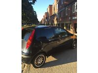 FIAT PUNTO black 3dr alloy wheels *In good condition*