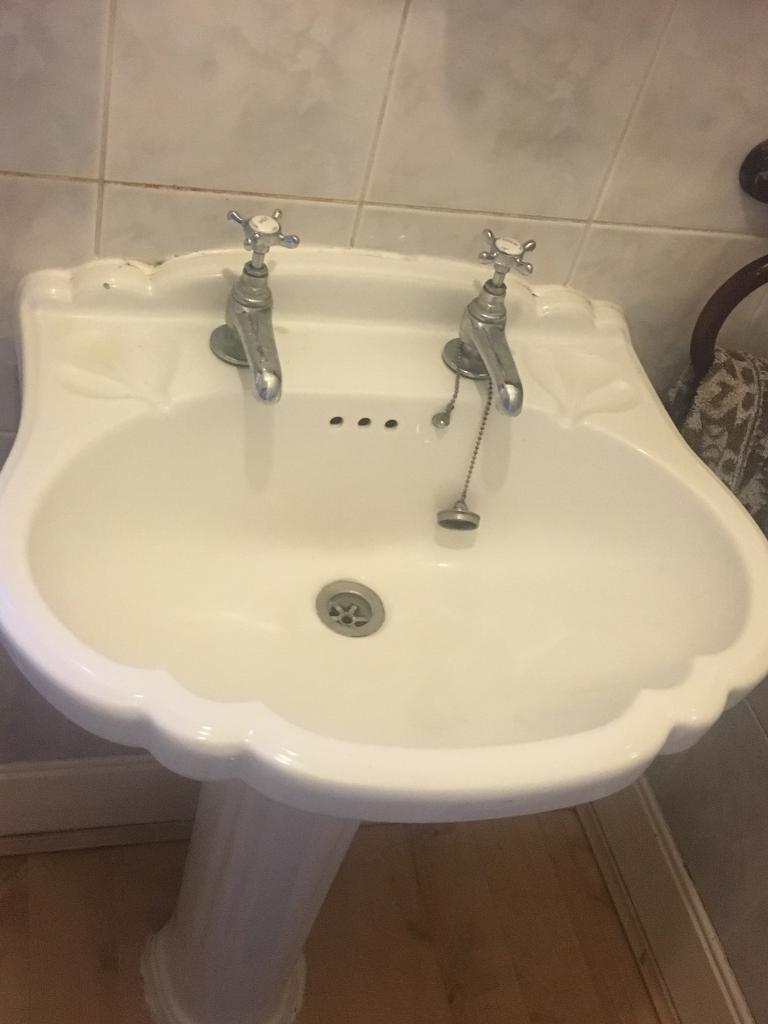 Bathroom sinks and toilets