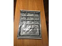 New IKEA Silver A4 3-Tier Sliding Letter / Document Tray - Office, Studio, Desk