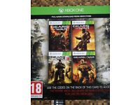Gears war collection 4 games Xbox one/360