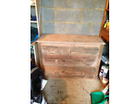 Oak chest of drawers (needs some paint or varnish)