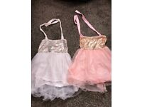 Girls matching dresses 6-9/9-12
