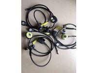 Three sets of used scubapro regulators