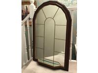 Mahogany coloured Window Mirror