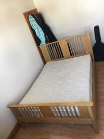 REDUCED PRICE: Wooden Double Bed For Sale mint condition