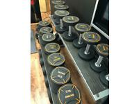 Full set rubber dumbells new 2.5kg-30kg premium new and boxed