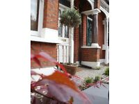 Lovely double room in friendly professional spacious period house in quiet area near station