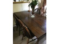 Solid Oak Table with 5 x Chairs