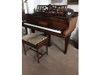 Baby Grand Piano made by John Brinsmead & Sons, London, with Piano Stool. Regularly tuned.
