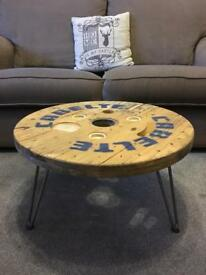 Cable reel coffee tables