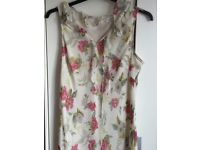 MIDI length wedding outfit. Cream floral.