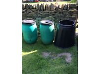 Composter Container & 2 Water Butts Bundle