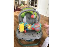 Mamas & Papas Bouncy Chair and Mothercare Tummy Time Roller