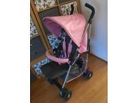 Silvercross Pink Butterfly Pop Star Stroller Pushchair
